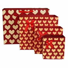 XUKE 50PCS Red Heart Gift Bags Paper Party Bags >>> This is an Amazon Affiliate link. Check out this great product. Paper Party Bags, Gift Bags, Gift Baskets, Christmas Decorations, Decor Ideas, Amazon, Heart, Link, Red