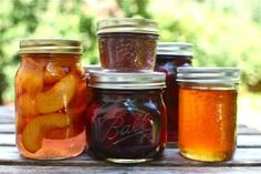 home made fruits and jellies