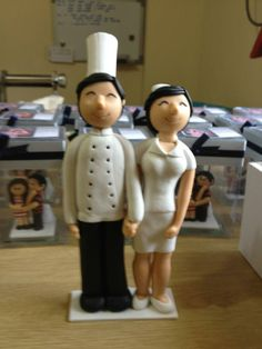 wedding cake topper groom Chef and bride Nurse Wedding Anniversary, Wedding Day, Wedding Stuff, Wedding Cake Toppers, Wedding Cakes, Chef Cake, Brides Cake, Nurse Love, Bride And Groom Gifts