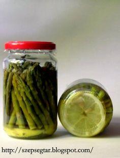 Szépségtár: SPÁRGAKONZERVEK Vegan Gluten Free, Vegan Vegetarian, Vegetarian Recipes, Paleo, Keto, Pickles, Cucumber, Tasty, Canning