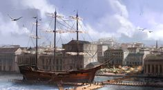 ArtStation - Waterfront, King Chen