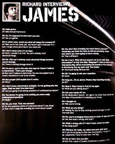 Richard interviews James