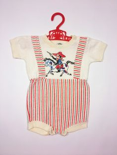 5b6233066413 Age 9-12 months vintage 1950 s NEW baby boy bunny rabbit romper ...