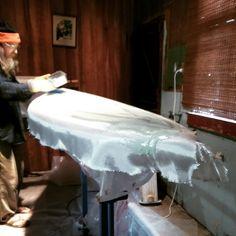 Ace of Hearts seventies pintail surfboard lamination | RoyStuart.biz