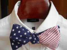 Stars and Stripes Mens Bow Tie by TrulySouthernTies on Etsy, $25.00