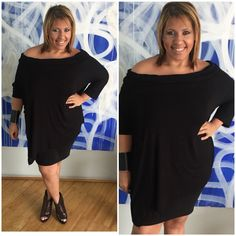 black #ootd Shirt Dress, T Shirt, Plus Size Fashion, Cold Shoulder Dress, Ootd, Black, Dresses, Supreme T Shirt, Vestidos