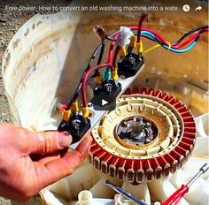 How to make a magnetic generator out of an old washing machine #Survival #Preppers