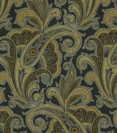 A traditional paisley home décor fabric with elegant color combination, perfect for mix and match applications, easily complement any design theme you have at home. Content: 100% Polyester Width: 55 I