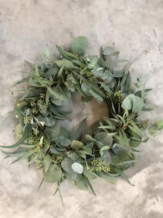 Fresh Eucalyptus Wreath, seeded eucalyptus wreath, silver dollar wreath, diy wedding, fresh greenery wedding decorations - Lilly is Love Green Wedding Decorations, Wedding Wreaths, Wedding Centerpieces, Wedding Flowers, Flowers Decoration, Centrepieces, Centerpiece Ideas, Table Centerpieces, Wedding Bells