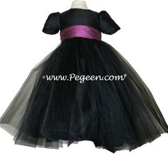 black and purple flower girl dress =)