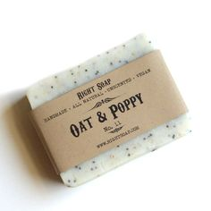 Oat and Poppy Scrub Soap - Exfoliating soap, Vegan Soap, Unscented Soap, All Natural Soap. $6.00, via Etsy.