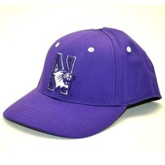 Northwestern Wildcats Child One-Fit Hat (Purple) by Top of the World. $12.49. Team color brushed cotton youth One-Fit hat. Primary 3D logo on embroidered on the front. Patented One-Fit sizing. Tagless technology for a better fit. Secondary logo flat-stitched on the back. NCAA Northwestern Wildcats Child One-Fit Hat. Save 52%!