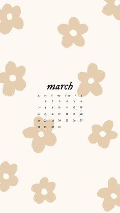 March 2021 Calendar Wallpapers 🌸🤍