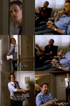 """Breaking into my room and watching Days of Our Lives?"" 
