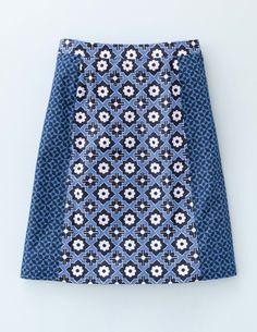 Boden skirt -- cute juxtaposition of prints!