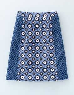Boden skirt -- cute juxtaposition of prints!