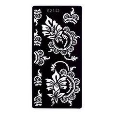 There is another craze is to draw patterns, flowers, mandala patterns in ink. You can say this is like adult drawing at its best! Flower Tattoo Stencils, Henna Stencils, Stencil Stickers, Cricut Stencils, Folk Embroidery, Paper Embroidery, Type Tattoo, Body Art Tattoos, Book Silhouette