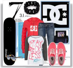 """Girl Skater"" by keep-calm-and-skate ❤ liked on Polyvore"