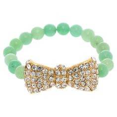 Adorned with crystal-inspired details, this lovely bracelet's bow-inspired accent pairs sweet style with a touch of glamour. Mint Jewelry, Cute Jewelry, Jewelry Box, Jewelery, Jewelry Accessories, Unique Jewelry, My Unique Style, My Style, Sweet Style