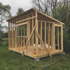 My new workshop in progress! I had a week away from making tiny house shows and needed to make the best of it- pumped on the progress! #heartofitallhouse #tinyhouse #workshop #shed #build #diy by trevorgay