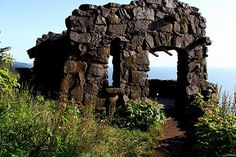 Famed Stone Shelter atop Cape Perpetua near Yachats, OR.