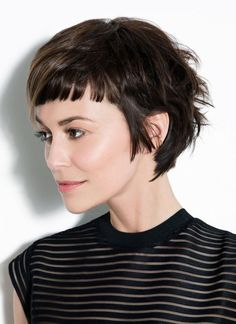 The latest hairstyles for short 'Baby' bangs come hot from the red carpets of New York and L. It's a fab new trend - so choose your best baby bangs here! Short Haircuts With Bangs, Blonde Haircuts, Short Hair With Bangs, Long Bangs, Short Hairstyles For Women, Hairstyles With Bangs, Wavy Hair, Short Hair Cuts, Short Hair Styles