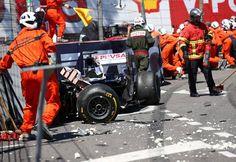f1 Así quedó el Williams Renault FW35 de Pastor Maldonado después de su aparatoso accidente con el Marussia de Max Chilton. El piloto Británico se disculpó con el Venezolano posterior a la carrera