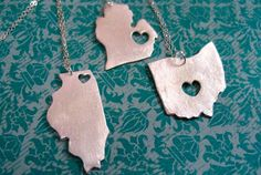 state necklaces. cool!