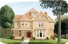 Country Farmhouse Victorian Elevation of Plan 95560