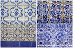 Hauswände in Tavia gekachelt - Portuguese Tiles, Azulejos, Portugal