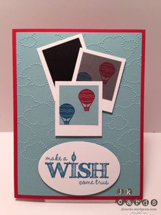 Stampin' Up!, Cloud Spring Wish Photo B'day, Make a Wish, Spring Sampler, Cloudy Day Embossing Folder, Ovals Collection Framelits
