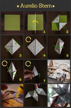 It continues with my star series with the Aurelio star. At first glance, Aurelio and Bascetta are confusingly similar. That& because the two stars are geometrically true . Origami Paper Folding, Origami Bird, Origami Flowers, Origami Simple, Useful Origami, Origami Design, Diy Paper, Paper Crafts, Origami For Beginners