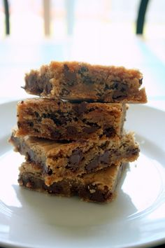 The very best recipe for Chocolate Chip Cookie Bars! Thick, chewy, buttery chocolate perfection!