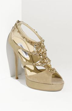 Jimmy Choo 'Teal Tawny' Jeweled Sandal available at Nordstrom... Anyone want to give me $2000 to spend on a pair of shoes? Please?