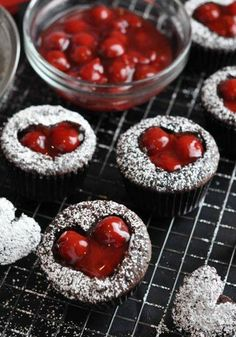 VALENTINE'S DAY: Cherry Cordial Cupcakes (This is a great recipe for chocolate cupcakes! Very moist and full of flavor. This was delicious, however it made way too much ganache and not enough cherry cordial cream. The balance is off, but it's still good regardless!!)