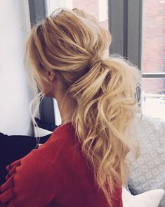 Messy ponytail hairstyles #weddinghair #ponytails #wedding #hairstyles #ponytail #weddinghairstyles