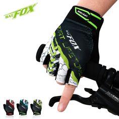 BATFOX Summer Men Women Half Finger Cycling Gloves Short Bicycle Gloves Mountain Bike MTB Equipment Bicicleta Para Ciclismo