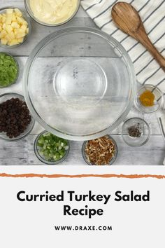 This curried turkey salad recipe makes for a delicious meal! It's easy to make and very versatile! It can be eaten plain, on a sandwich or even on a salad! Try it today!