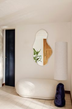 Home Interior Living Room Pond Mirror and Hebe Lamp Base by Ferm Living.Home Interior Living Room Pond Mirror and Hebe Lamp Base by Ferm Living Interior Ikea, Home Interior Design, Nordic Interior, Interior Livingroom, Home Design Blogs, Interior Sketch, Interior Plants, Interior Modern, Modern Decor