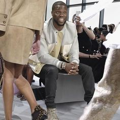 """""""As a man, you should encourage your woman to be creative and to experiment. You should never limit a person to what they can or cannot do. If experimenting with your look is your way of being creative, my job as a man is to support that and love you regardless. But no one should ever wear Hammer pants."""" —@kevinhart4real reveals what men really think about what women wear, go to the link in our profile to read his November issue essay on BAZAAR.com, as told to @mccarthylauren."""