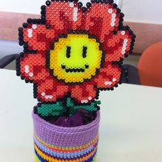Flower hama perler by Efrat Kuvent