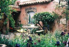 Mediterranean Courtyard by MsLark, via Flickr