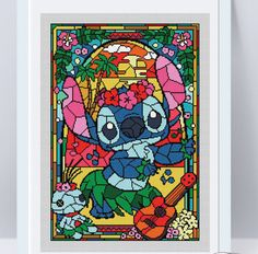 Disney cross stitch pattern Lilo and Stitch. Stained glass collection. Cross stitch pattern in PDF. NOT A PHYSICAL PRODUCT! __________________________________________________________________________________ BUY 2 PATTERNS AND GET 1 FREE! How: Buy 2 patterns and send me link of 3 in your