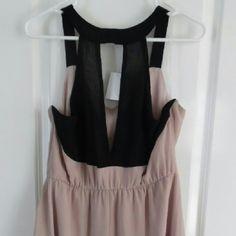 Charlotte Russe Pale rose Chiffon dress Charlotte Russe Dresses Midi
