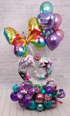 Happy Balloons, Balloons And More, Large Balloons, Butterfly Decorations, Balloon Centerpieces, Balloon Decorations Party, Balloon Gift, Balloon Garland, Wedding Balloons
