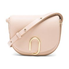 """Alix Saddle Crossbody Bag by 3.1 Phillip Lim. Genuine leather with canvas fabric lining and gold-tone hardware.  Made in China.  Measures approx 8.5""""""""W x 7.5""""""""H x ..."""