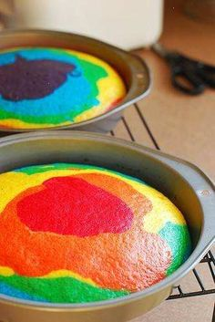 How To: Rainbow Cake! By A.meadowlark.   So Gel Colours And Lemonade Apparently Do The Trick.