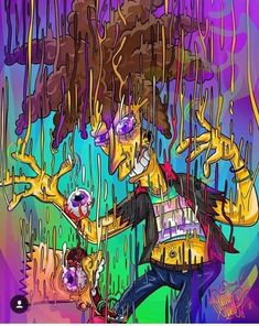 Melting Sideshow Bob & Bart, The Simpsons Bart Wallpaper, Simpson Wallpaper Iphone, Trippy Wallpaper, Cartoon Wallpaper, Arte Dope, Dope Art, Psychedelic Art, Trippy Pictures, Dope Cartoons