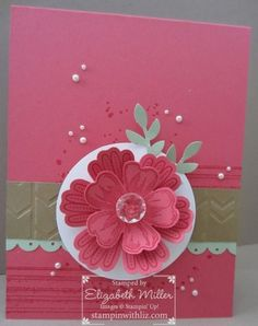 Stampin Up Flower shop and gorgeous grunge stamp set card. mixed bunch stamp set.