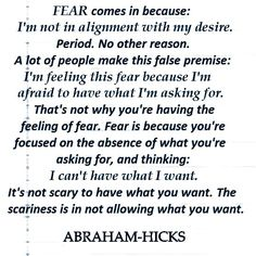 Abraham-Hicks on fear